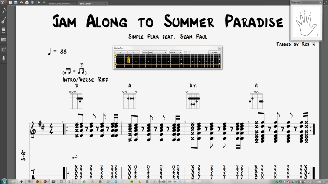 Jam Along to Summer Paradise, Simple Plan give us simple chords to have a great deal of fun with :)