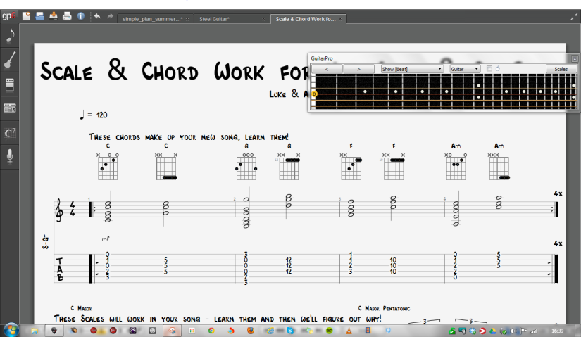 Scale + Chord Work for New Luke & Ali Song